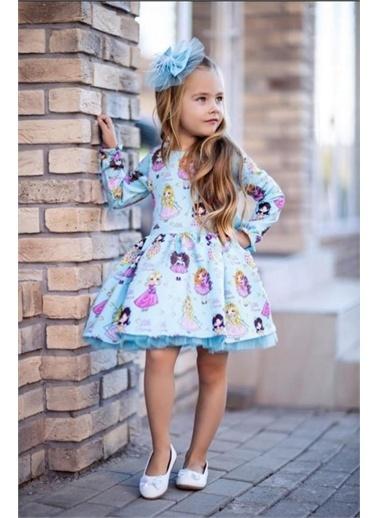 Riccotarz Kız Çocuk Little Princess Uzun Kol Elbise Renkli